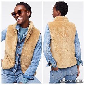 J Crew | Plush Fleece Excursion Vest